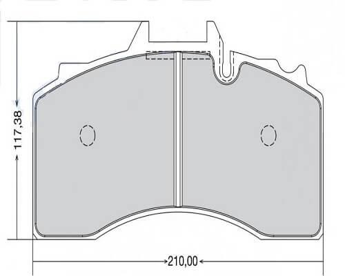 BPW brake pad